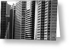 Architecture Nyc Bw Greeting Card by Chuck Kuhn