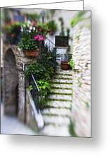Archway And Stairs Greeting Card by Marilyn Hunt
