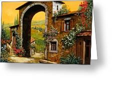 Arco Di Paese Greeting Card by Guido Borelli