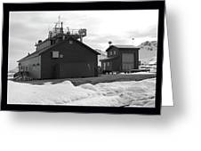 Arctic Triptych Greeting Card by Terence Davis