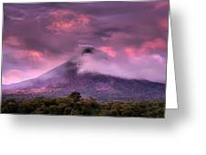Arenal Volcano Greeting Card by Dolly Sanchez