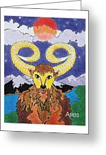 Aries The Ram Greeting Card by Stephen Daniel