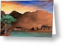 Arizona Sky Greeting Card by Arline Wagner