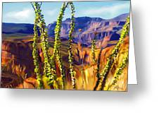 Arizona Superstition Mountains Greeting Card by Bob Salo