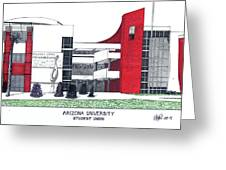 Arizona University Greeting Card by Frederic Kohli