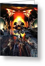 Armageddon Greeting Card by Mason BenYair