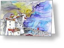 Arnedillo in La Rioja Spain 02 Greeting Card by Miki De Goodaboom