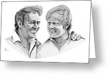Arnold Palmer-jack Nicklaus Greeting Card by Murphy Elliott