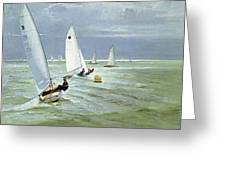 Around The Buoy Greeting Card by Timothy Easton