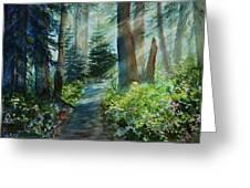 Around The Path Greeting Card by Kerri Ligatich