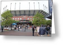 Arthur Ashe Stadium Greeting Card by David Grant