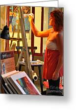 Artist At Work Greeting Card by Rose  Hill