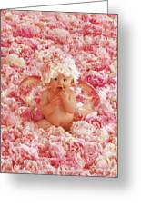 Peony Angel Greeting Card by Anne Geddes
