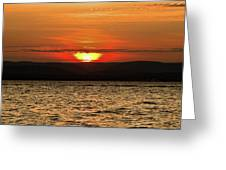 As The Sun Sets Greeting Card by Alexander Mendoza