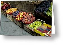 Assorted Fresh Fruits Of Berries Greeting Card by Todd Gipstein