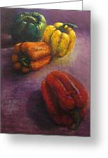 Assorted Peppers Greeting Card by Tom Forgione