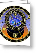 Astronomical Clock Greeting Card by Michal Boubin