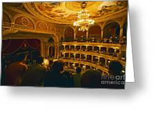 At The Budapest Opera House Greeting Card by Madeline Ellis