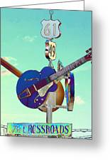 At The Crossroads Greeting Card by Karen Wagner
