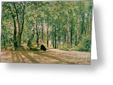At The Summer Cottage Greeting Card by Ivan Ivanovich Shishkin