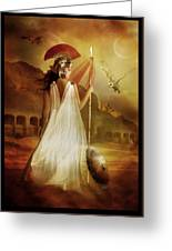 Athena Greeting Card by Mary Hood