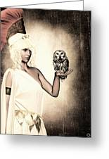 Athena Greeting Card by Lourry Legarde