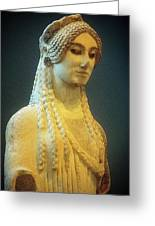 Athenian Kore Greeting Card by Andonis Katanos