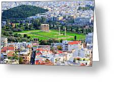Athens - Temple Of Olympian Zeus Greeting Card by Hristo Hristov