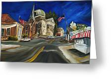 Athens Al Greeting Card by Carole Foret