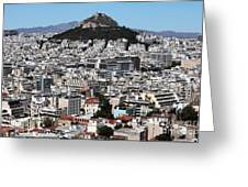 Athens City View Greeting Card by John Rizzuto