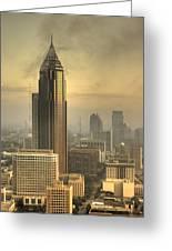 Atlanta Skyline At Dusk Greeting Card by Robert Ponzoni