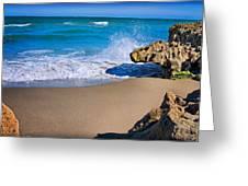Atlantic Beach Greeting Card by Robert Smith