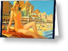 Atlantic City  Greeting Card by Nomad Art And  Design