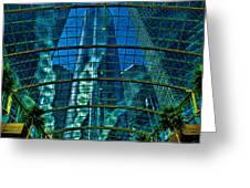 Atrium Gm Building Detroit Greeting Card by Chris Lord