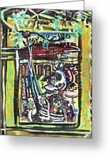 Attic Window Greeting Card by Robert Wolverton Jr