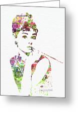 Audrey Hepburn 2 Greeting Card by Naxart Studio