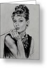 Audrey Hepburn Greeting Card by Ylli Haruni