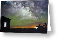 Aurora Lights Greeting Card by Annmarie Vierick