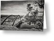 Austin 360 Bridge In Early Dawn Greeting Card by Lisa  Spencer