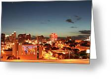 Austin Night Greeting Card by Andrew Nourse