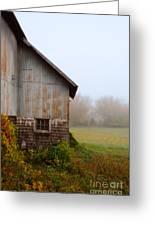 Autumn Barn Greeting Card by Jill Battaglia