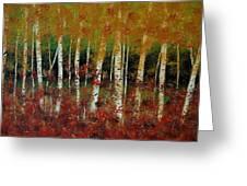 Autumn Birch Greeting Card by Debra Kent