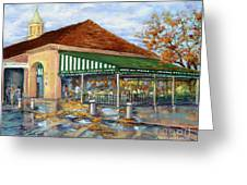 Autumn Coffee Greeting Card by Dianne Parks