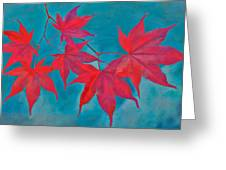 Autumn Crimson Greeting Card by William Jobes