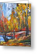 Autumn Greeting Card by Debora Cardaci