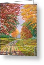 Autumn Drive Greeting Card by Tan Nguyen