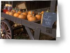 Autumn Farmstand Greeting Card by John Burk