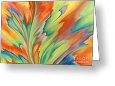 Autumn Flame Greeting Card by Lucy Arnold