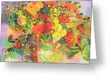 Autumn Flowers  Greeting Card by Claire Spencer
