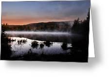 Autumn Fog Greeting Card by William Carroll